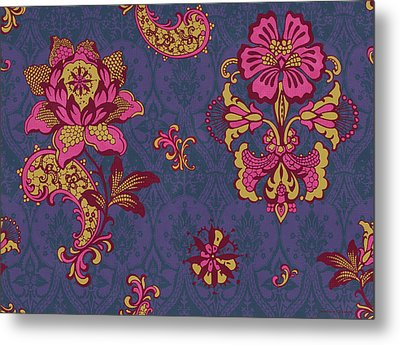 Deco Flower Purple Metal Print