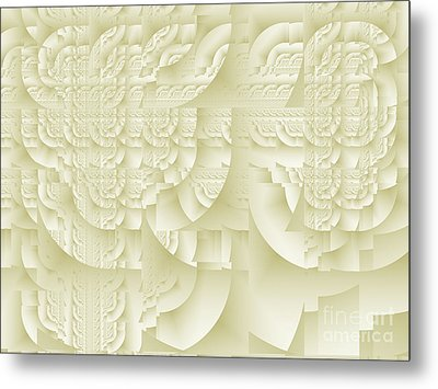 Metal Print featuring the digital art Deco Relief by Richard Ortolano