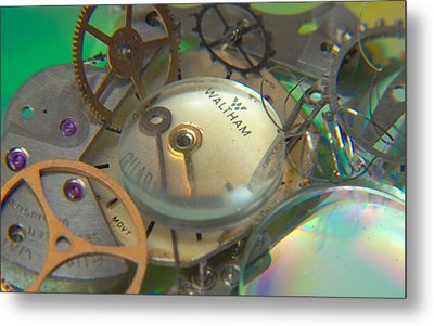 Deconstructing Time 420 Metal Print by Karen Musick