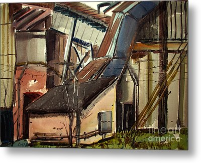 Metal Print featuring the painting Deconstruction Coal Fired by Charlie Spear