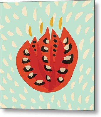 Decorative Beautiful Abstract Tulip Metal Print by Boriana Giormova