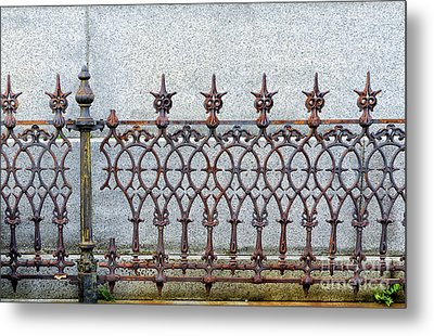 Decorative Cast And Wrought Iron Fence_ Nola Metal Print
