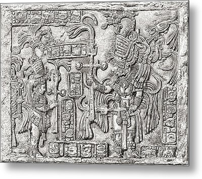 Decorative Lintel From The Ancient Metal Print by Vintage Design Pics