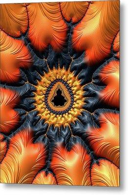 Metal Print featuring the digital art Decorative Mandelbrot Set Warm Tones by Matthias Hauser