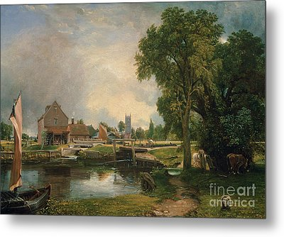 Dedham Lock And Mill Metal Print by John Constable