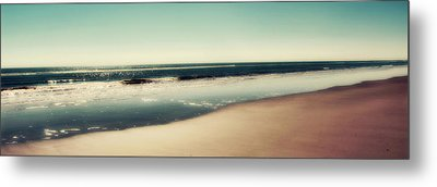 Deep Blue Sea Panoramic Metal Print by Amy Tyler