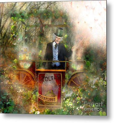 Deep In The Woods - Is The Fairyloon Man Metal Print by Carrie Jackson