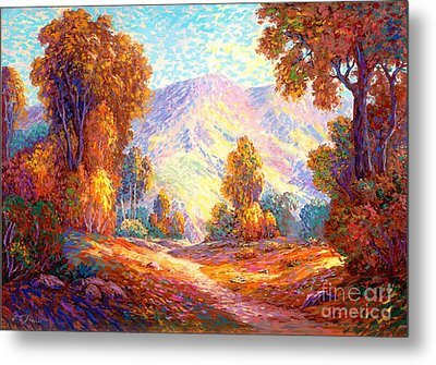 Radiant Peace, Colors Of Fall Metal Print by Jane Small
