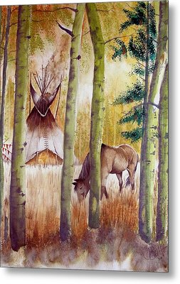 Deep Woods Camp Metal Print by Jimmy Smith