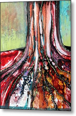 Deeply Rooted I Metal Print by Shadia Derbyshire