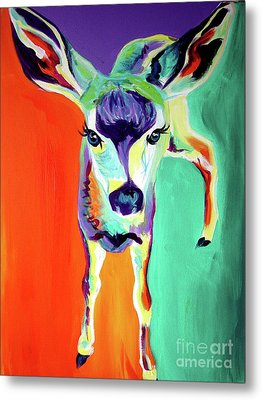 Deer - Fawn Metal Print by Alicia VanNoy Call