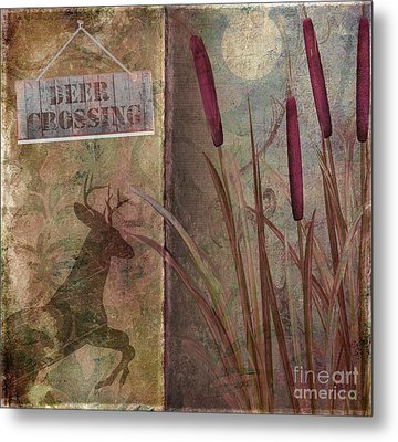 Deer Crossing  Metal Print by Mindy Sommers