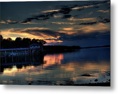 Metal Print featuring the photograph Deer Isle Sunset I by Greg DeBeck