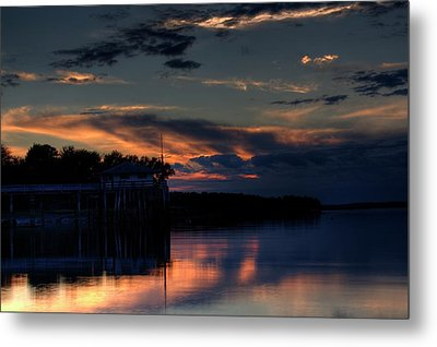 Metal Print featuring the photograph Deer Isle Sunset II by Greg DeBeck