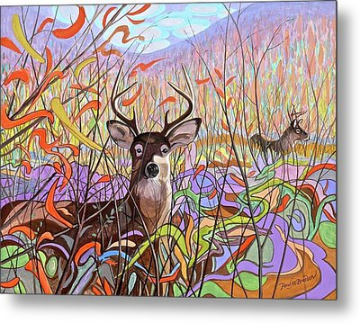 Deer Meadow Metal Print by Paul Breeden