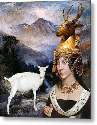Deer Medicine Woman Metal Print