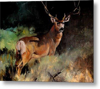 Deer Painting Metal Print