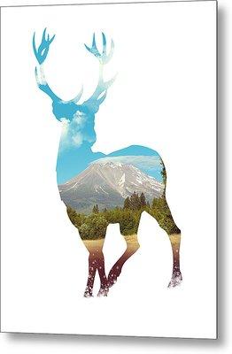 Deer Silhouette 01 Metal Print