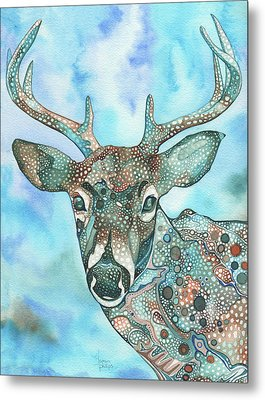 Deer Metal Print by Tamara Phillips