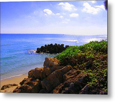 Metal Print featuring the photograph Deerfield Beach by Artists With Autism Inc