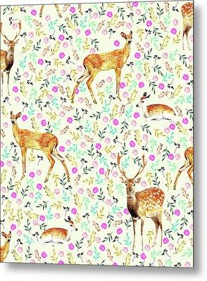 Deers Metal Print by Uma Gokhale