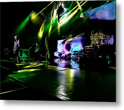 Def Leppard At Saratoga Springs 4 Metal Print by David Patterson