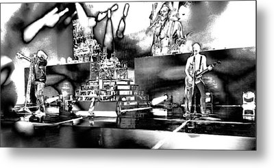 Def Leppard At Saratoga Springs 6 Metal Print by David Patterson