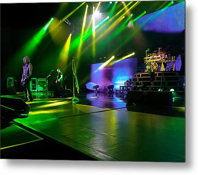 Def Leppard At Saratoga Springs Metal Print by David Patterson
