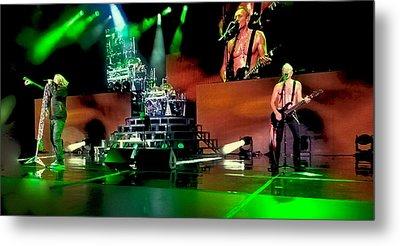 Def Leppard On Stage Metal Print