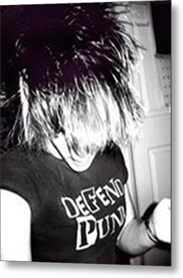 Metal Print featuring the photograph Defend Punk by Jane Autry