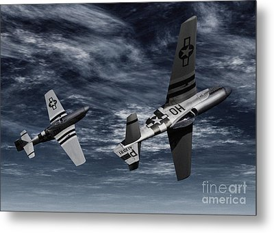 Defensive Split  Metal Print by Richard Rizzo