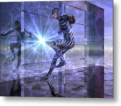 Metal Print featuring the digital art Defy The Boundaries Visible And Invisible by Shadowlea Is