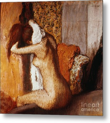 Degas: After The Bath Metal Print by Granger