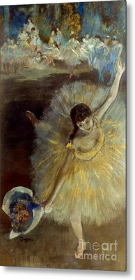 Degas: Arabesque, 1876-77 Metal Print by Granger