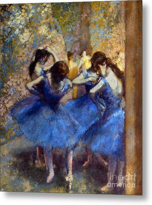 Degas: Blue Dancers, C1890 Metal Print by Granger