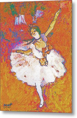 Degas Dancer Metal Print by Robert Bissett