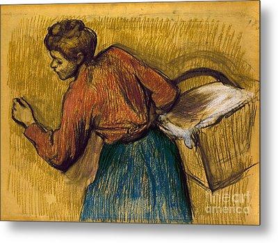 Degas: Laundress, C1888-92 Metal Print
