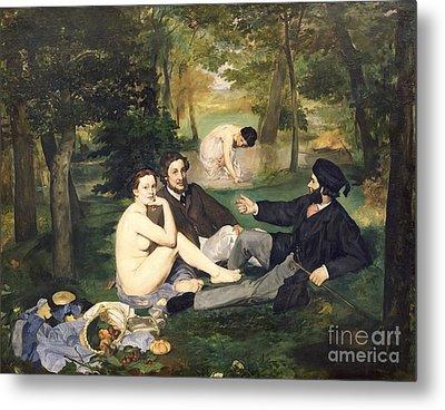 Dejeuner Sur L Herbe Metal Print by Edouard Manet