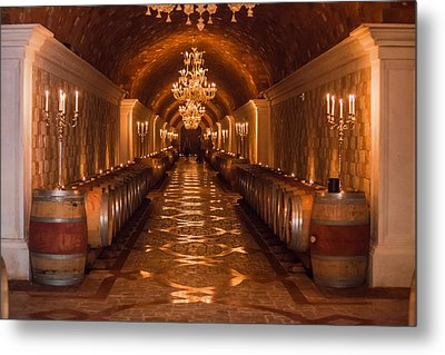 Del Dotto Wine Cellar Metal Print
