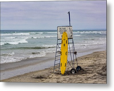 Del Mar Lifeguard Tower Metal Print