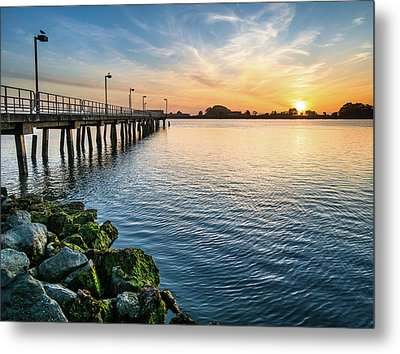 Metal Print featuring the photograph Del Norte Pier And Spring Sunset by Greg Nyquist