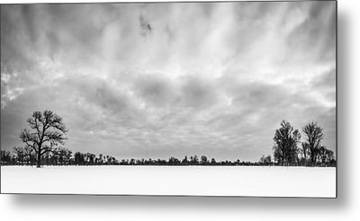Metal Print featuring the photograph Delaware Park Winter  Meadow by Chris Bordeleau