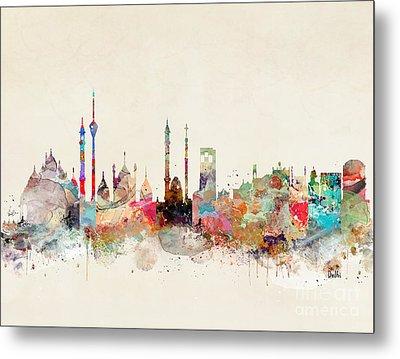 Metal Print featuring the painting Delhi City Skyline by Bri B