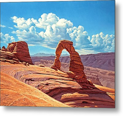 Delicate Arch Metal Print by Paul Krapf