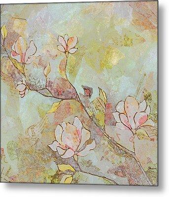 Delicate Magnolias Metal Print