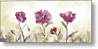 Delicate Poppy II Metal Print by Shadia Derbyshire