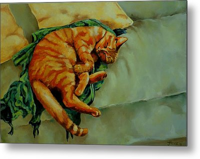 Delicious Sleep Metal Print by Jolante Hesse