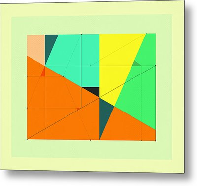 Delineation - 114 Metal Print by Jazzberry Blue