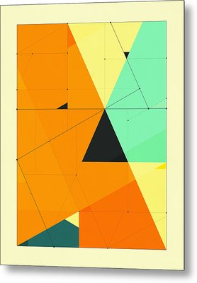 Delineation - 124 Metal Print by Jazzberry Blue