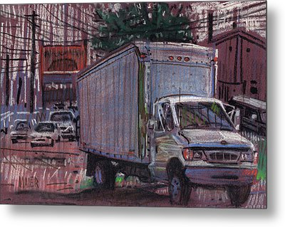 Delivery Truck 2 Metal Print